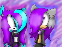 Lilac and Adrianna_ gift by britishTaxi