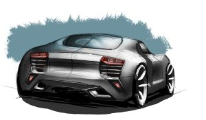 Audi R8 Rendering by MartinEDesign