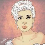 Lady Gaga cartoonized #2 (Pink) by hiding-paparazzi
