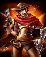 Overwatch Poster - McCree by AndrewMartinD
