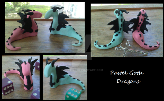 Pastel Goth Dragons by zekaiyu