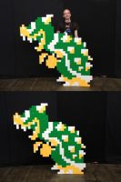 Bowser Sprite Cosplay by LoDuris