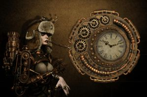 Steampunk Mechanical Clock 2 for xwidget(animated) by jimking