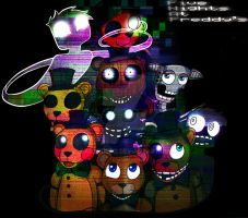 FNAF All the Freddy's by SatykDead