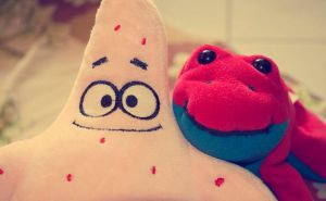 Patrick Star and Sally by Tenshi659