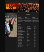 Elon Rugby Roster Page by Kvitne