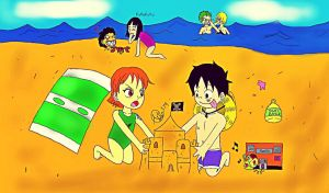 At the Beach Colored by Artman179