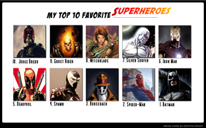 Top 10 Superheroes by MarcusWilliams