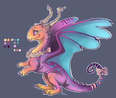 Chibi Twilight dragon Adoptable /SOLD! by Cecaangyal