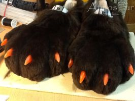 WIP: Nightfirer Footpaws by AtmosFur