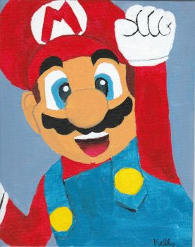 Mario for Miss R. by KittensDemise