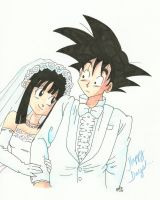 Goku and Chi Chi: The Happy Day by RomaniaBlack