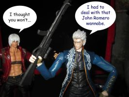 Vergil and the Sniper Rifle by Kyouseme-Arasaki