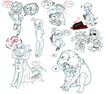 Creepypasta Doodles by GVvenge21
