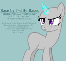 MLP Base 283 - You're bucking kidding right...? by Twiily-Bases