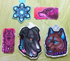 Key-tags and Ticket-ACEO Commissions by Crazdude