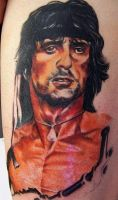 rambo tattoo by optimuspint