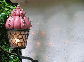 Candy lamp on the gingerbread house by Pixerke