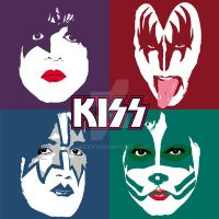 Kiss 4 Faces 4 Colors by medek1