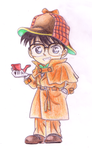 Conan in detective outfit by Shinti