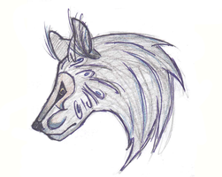 Wolf head by Wildefray
