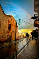 rainbow in the old city by Kat-Pi
