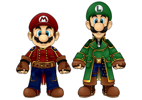 Mario and Luigi by CosmicThunder