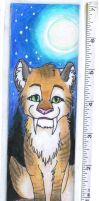 Sabre Tooth Tigress Bookmark by bingles