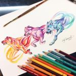 Running Rainbow Dogs by Lucky978