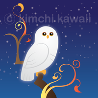 White Owl by kimchikawaii