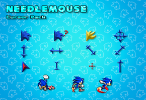 Needlemouse Cursor Pack by LightningChaos2010