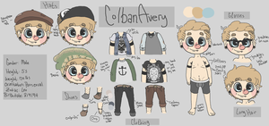 Colban Avery Reference sheet by snailbites