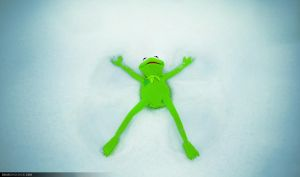 Kermit the snowangel by dejz0r