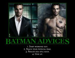 Batman Advices to Arrow by MexPirateRed