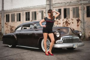 Kustom Car + Girl by AmericanMuscle