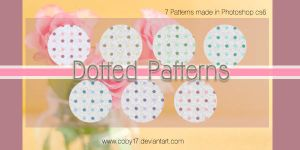 Dotted in white Patterns by brenda by Coby17