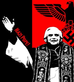 Cartoons ... Nazi_pope_by_ktrcoyote