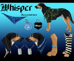 .: Whisper's accesories Reference Sheet :. by Kasamm
