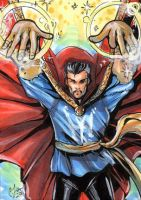 Doctor Strange sketch card by CassandraJames