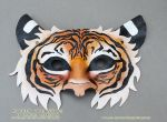 Leather Tiger Mask by Blackthorn-Studios