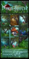 Wood Forest backgrounds by moonchild-ljilja