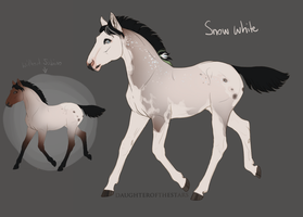 A2254 Snow White - Foal Design by NorthEast-Stables