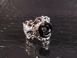 Black filigree ring 2 by AngelElementsEtsy