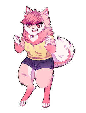 Gift:: Poof fursona by starryfluff