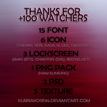 Thanks For +100 Watchers by kubrakose95