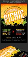 Tropical Picnic Flyer Template by Godserv