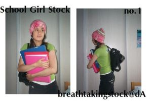 School Girl Stock 1 by breathtakingstock