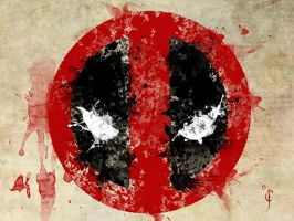 Deadpool Bloody. by BlindAcolyte