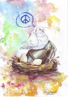 dove of peace by GoldBeer