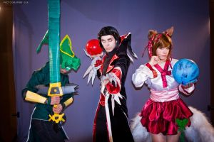 League of Legends: Master Yi, Vladimir and Ahri. by Otohime-Hina